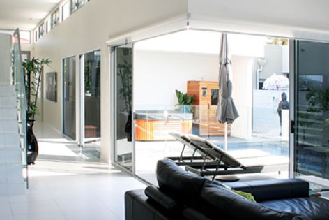 Trend's window and door collections integrate indoor and outdoor rooms for relaxed alfresco living.
