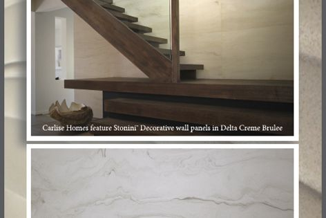 Stonini Delta panels by Di Emme