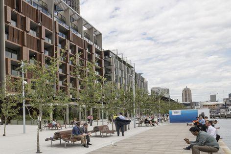 Knauf contributed to Sydney's urban renewal project Barangaroo South. Photos courtesy of Lendlease.