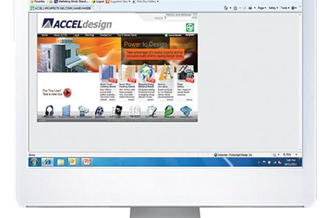 The Accel Design home page.