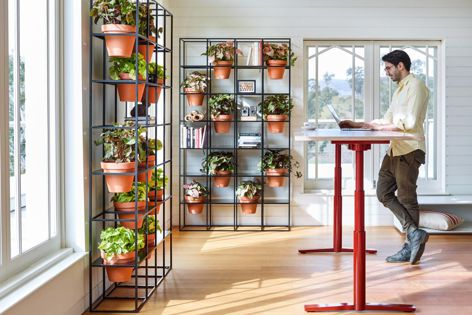The Vertical Garden's flexible design allows a variety of configurations.