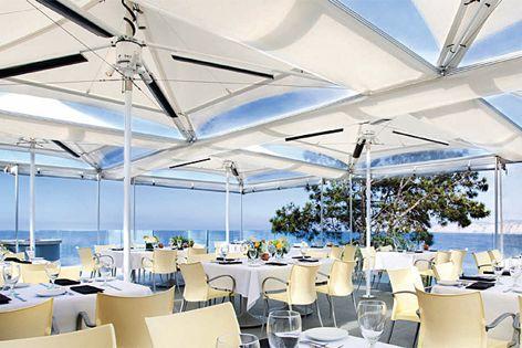 Celmec International's Heatray range includes commercial-grade structural umbrellas.