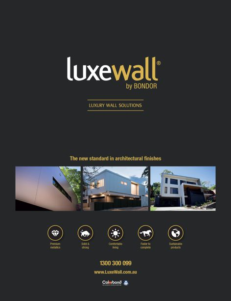Luxewall wall solution by Bondor