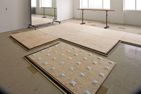 BiltFlør portable sprung dance floors use modular airflow cushions to protect dancers.