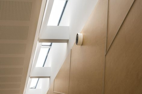 Belle Skylights uses the Intalok Glazing System to enhance large spaces with natural daylight.