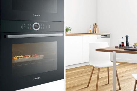 Bosch's Series 8 ovens are sleek and functional, providing a contemporary edge in the kitchen.
