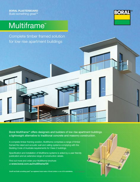 Multiframe construction system from Boral Plasterboard