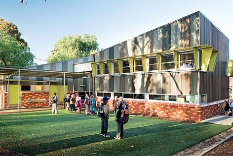Colorbond products were used at North Melbourne Primary School. Photography: John Gollings.