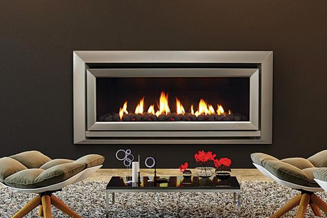 The DL Series fireplaces, including the DL1100 (pictured), are available in three different fascias.