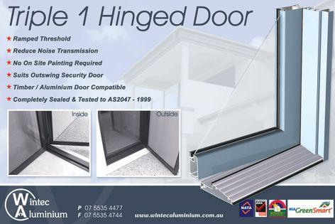 Wintec Triple 1 hinged Door