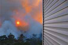 Blockout shutters for bushfire defence