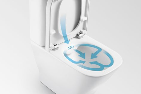 Roca's The Gap rimless toilets offer superior hygiene and cleaning performance.