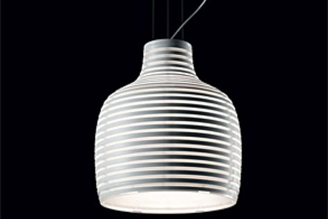 The Behive suspension light features a series of overlapping rings of different diameters.