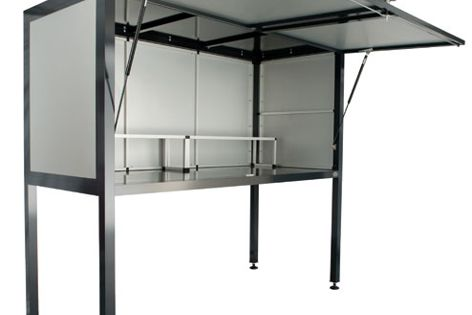 Storsafe is designed for storing possessions in a unit complex car park.