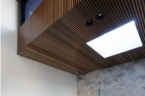 Castellation interior cladding brings the warmth of Western red cedar to interior spaces.