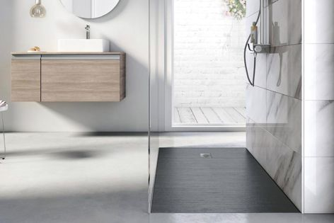 The Cyprus Stonex shower floor, with its sleek, minimalistic design, complements any bathroom style.