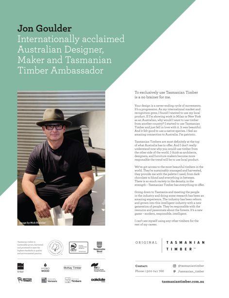 Tasmanian Timber ambassador
