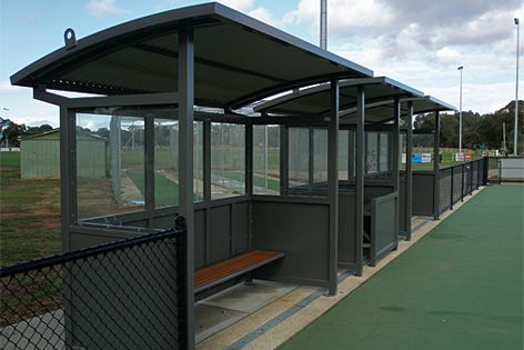 Furphy's Foundry shelters include coach/player and scorer's shelters like this one.