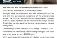 Sub-Zero Wolf Kitchen Design Contest