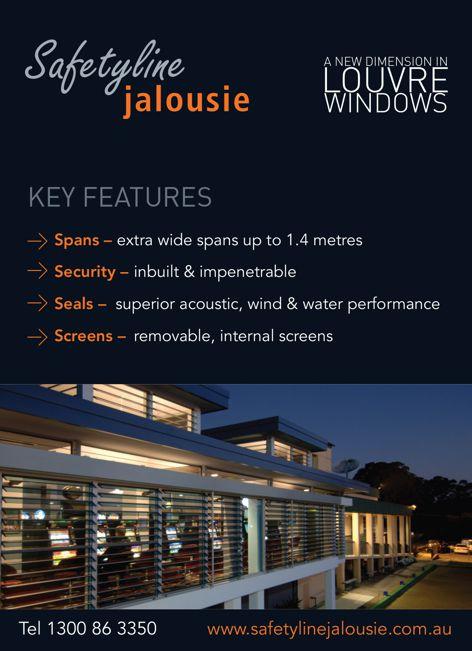 Louvre windows from Safetyline Jalousie
