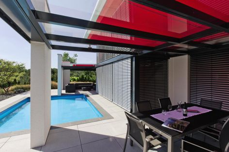 The intelligent design of the Secudrive system extends and retracts awning fabric without the use of pulleys or belts.