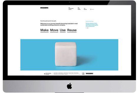 The new Brickworks sustainability website.