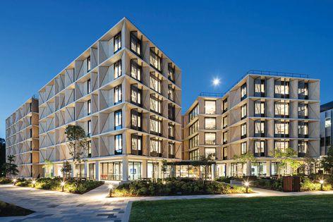 Macquarie University student accommodation with ST109 panels.