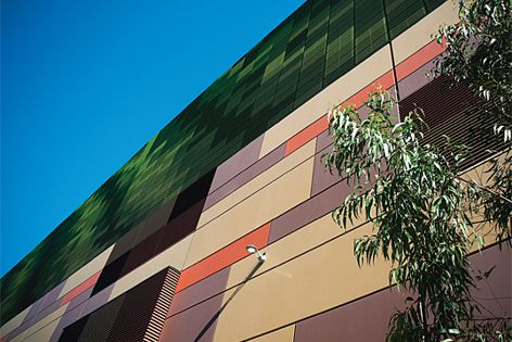 A variety of precast finishes has been used at Top Ryde City shopping centre in north Sydney.