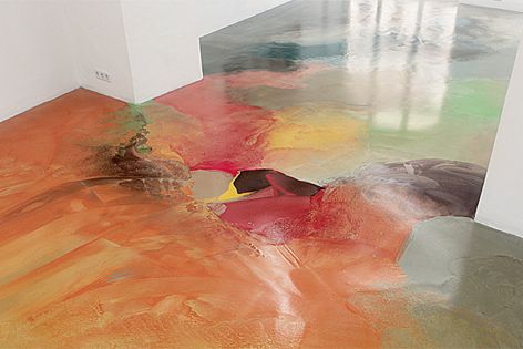 Pandomo by Ardex colour is used to extend art to the floors of Atelier Lois Renner, Austria.