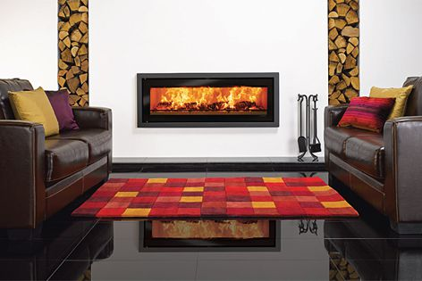 The Riva Studio fireplaces combine simplicity of operation with visual design.