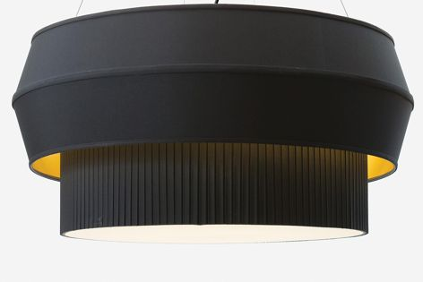 The design of Rich Brilliant Willing's Delta IV Black pendant resembles a rocket engine.