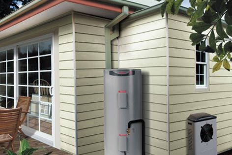 The MPs-325  heat pump fits neatly into tight corners, making it an ideal heat pump for townhouses.