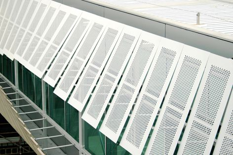 Locker Group sunscreens can accent windows or other architectural elements on a building.
