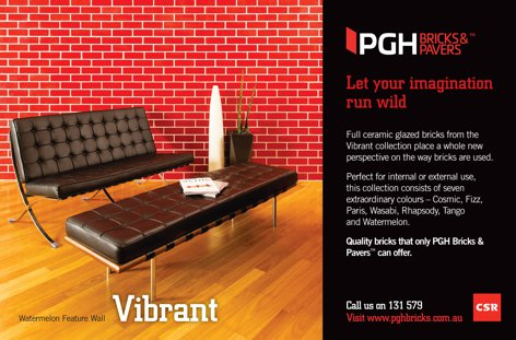Vibrant collection from CSR PGH Bricks & Pavers