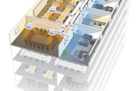 The Airstage VR-II offers operating options, individual, central and building management control.