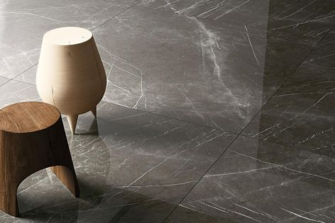 Maximum's Pietra Grey porcelain panels are lightweight, versatile and easy to clean, with the beautiful look of marble.