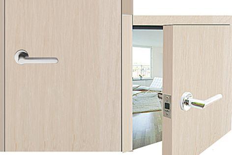 Bonaiti's magnetic tubular passage latch creates a clean door and jamb.