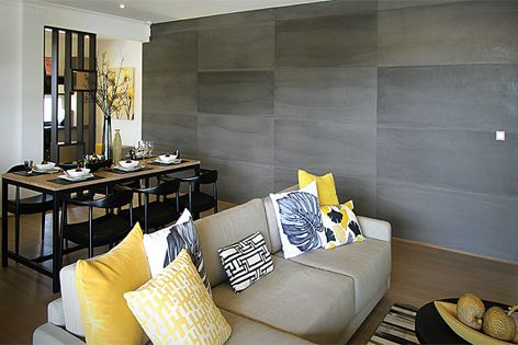 Stonini Concrete wall panels are featured in the Selendra Rise display homes.