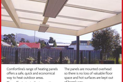 Comfortline outdoor heating panels