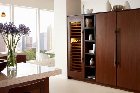 """Sub-Zero's integrated refrigeration can stand out or """"disappear."""""""