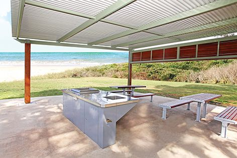 Stoddart's rear-draining barbecue hotplates make great additions to outdoor park spaces and sporting facilities.