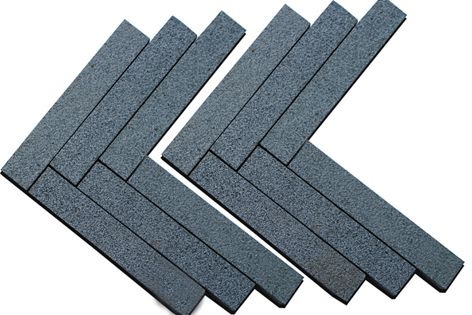 Granite paving on mesh comes in a variety of patterns and colours.