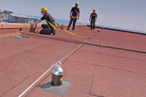Latchways fall-protection systems are successfully tested to accommodate three workers.