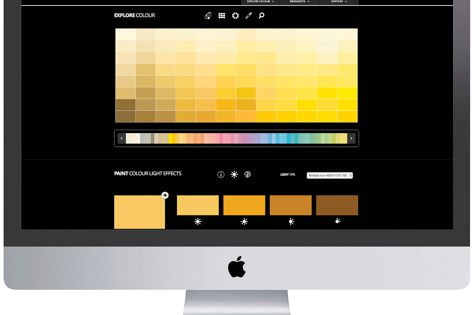 The Colour Galaxy allows exploration of the impact of different lighting conditions on Taubmans colours.