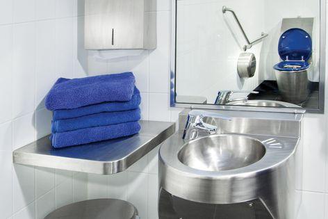 Stainless steel plumbing fixtures by Stoddart