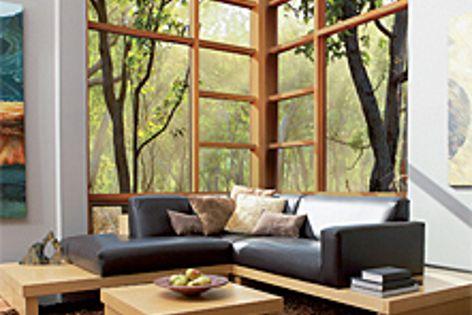 The Stegbar range of windows and doors is available in cedar, aluminium and merbau.