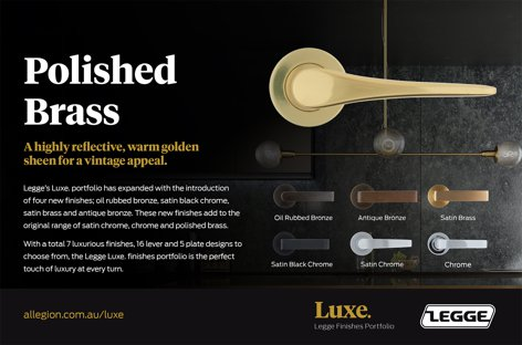 Legge Luxe. Polished Brass from Allegion