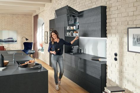 Continuous product development and innovation allow Blum's range of fitting solutions to be paired with the latest kitchen and furniture designs.