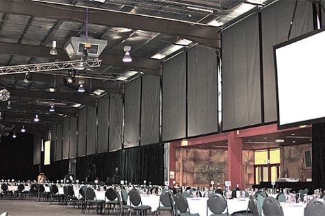 Orchestra blinds in National Tally Room
