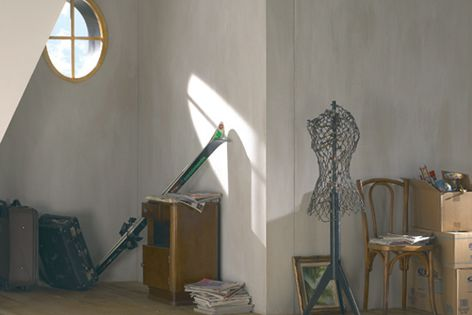 Before. The Sanislim waste pump enables unused space – such as this attic – to be transformed.